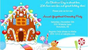 Christmas Poems for Invitation to A Party Gingerbread Decorating Christmas Holiday Party Invitation