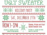 Christmas Sweater Party Invitation Template Red Green Ugly Christmas Sweater Party Stock Vector