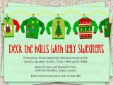 Christmas Sweater Party Invitation Template Ugly Christmas Sweater Invitation Wording Happy Holidays