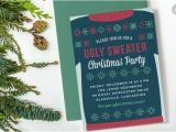 Christmas Sweater Party Invitation Template Ugly Sweater Christmas Party Invite Invitation Templates