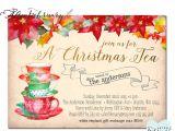 Christmas Tea Party Invitations Free Christmas Tea Party Invitation Invites Christmas Tea
