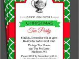 Christmas Tea Party Invitations Free Christmas Tea Party Invitation Printable Christmas