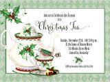Christmas Tea Party Invitations Free Holiday Tea Invitation Christmas Tea Invitation Tea Party