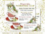 Christmas Tea Party Invitations Free Printable Christmas Tea Party Invitation Christmas Dinner