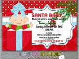 Christmas themed Baby Shower Invitations Christmas Baby Shower Invitations Product No 307 Santa