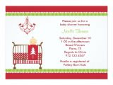 Christmas themed Baby Shower Invitations Christmas Crib Baby Shower Invitations
