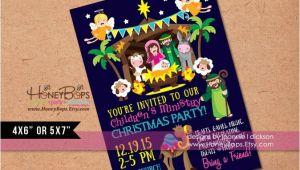 Church Christmas Party Invitation Manger Kid 39 S Church Christmas Party Personalized by Honeybops