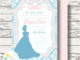 Cinderella Baby Shower Invitations Cinderella Inspired Invitation for Birthday Party by
