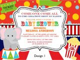 Circus themed Baby Shower Invitations Baby Shower Invitations Best 10 Vintage Circus Baby