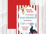 Circus themed Baby Shower Invitations Carnival Circus themed Baby Shower Invitation Circus