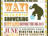 Circus themed Baby Shower Invitations for Jessica Baby Shower Invitation Little Peanut Circus