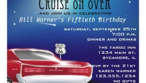 Classic Car Party Invitations Classic Car Birthday Party Invitation 5 5 Quot X 7 5