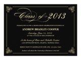 Classy Graduation Invitations Classy Elegant Black 2013 Graduation Invite Zazzle