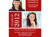 Classy Graduation Invitations Photo Graduation Invitation Classy Red White Zazzle