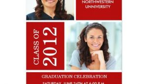 Classy Graduation Invitations Photo Graduation Invitation Classy Red White Zazzle