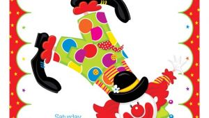 Clown Birthday Party Invitations Party Clown Kids Birthday Invitations Polkadotdesign Com