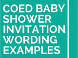 Co Ed Baby Shower Invitation Wording 21 Coed Baby Shower Invitation Wording Examples