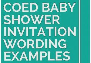 Co Ed Baby Shower Invitation Wording Baby Shower Invitation Elegant Co Ed Baby Shower Invites