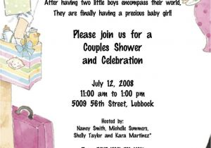 Co Ed Baby Shower Invitation Wording Co Ed Baby Shower Invitation Wording