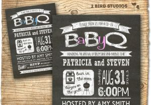 Co-ed Baby Shower Invite Baby Q Baby Shower Invitation Coed Baby Shower Invite