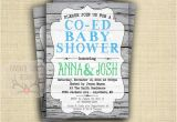 Co-ed Baby Shower Invite Co Ed Baby Shower Invitation Coed Baby Shower Invite Green
