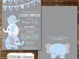 Co-ed Baby Shower Invite Elephant Baby Shower Invitation Co Ed Baby Shower Invitation