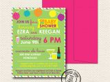 Co-ed Baby Shower Invites Coed Baby Shower Invitation 15 Custom Invitations with