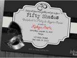 Co Ed Bachelor Bachelorette Party Invitations 50 Shades Of Grey Bachelorette Lingerie Party Invitation