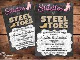 Co Ed Bachelor Bachelorette Party Invitations Co Ed Wedding Shower Invitation Stilettos by Reigningparties