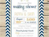 Co-ed Bridal Shower Invitations Chevron Wedding Shower Invitation Couples Coed Bridal
