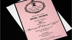 Coco Chanel Bridal Shower Invitations Coco Chanel Bridal Shower Invitation