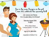 Coed Baby Shower Invitations Wording Ideas Retro Coed Baby Bbq Shower Invitation