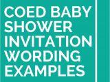 Coed Baby Shower Invite Wording 21 Coed Baby Shower Invitation Wording Examples