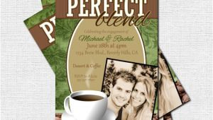 Coffee themed Bridal Shower Invitations Items Similar to Personalized Perfect Blend Coffee Bridal