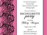 Combined Bridal Shower and Bachelorette Party Invitations Black Lace and Pink Bachelorette Party Invitation