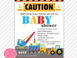Construction themed Baby Shower Invitations Construction Baby Shower Invitation Construction Trucks