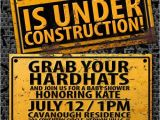 Construction themed Baby Shower Invitations Under Construction Baby Shower Invitation by Lyonsprints