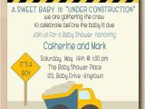 Construction themed Baby Shower Invitations Under Construction Baby Shower Invitation Print Your Own