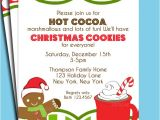 Cookie Decorating Party Invitation Wording Items Similar to Christmas Hot Cocoa and Cookies