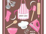Cooking Party Invitation Template Free Baking or Cooking Party Invitation Card Zazzle