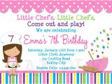 Cooking Party Invitation Template Free Invitations to A Birthday Party Free Invitation