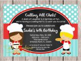 Cooking Party Invitation Template Free Little Chef Birthday Party Invitations