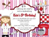 Cooking Party Invitation Template Free Print Birthday Invitations for Free Printable