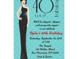 "Cool 40th Birthday Invitations Classy 40th Birthday Invitation 5"" X 7"" Invitation Card"