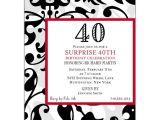 Cool 40th Birthday Invitations Fun Faux Flocked 40th Birthday Invitations