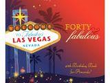 Cool 40th Birthday Invitations Unique 40th Las Vegas Birthday Party Invitations