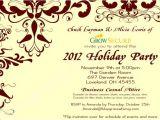 Corporate Christmas Party Invitation Wording Ideas Custom Corporate Holiday Party Invitation W Crimson Flourish