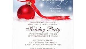 Corporate Christmas Party Invitations Free Templates Corporate Holiday Party Invitation Template Zazzle Com