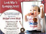 Costco Photo Birthday Invitations Baseball First Birthday Invitation Baseball Birthday