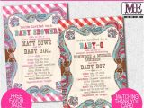 Country themed Baby Shower Invitations Country Baby Shower Invitations by Metro Designs Graphic